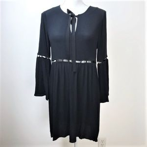 NWT Ella Moss Black  Cut Outs Bell Sleeve Dress S